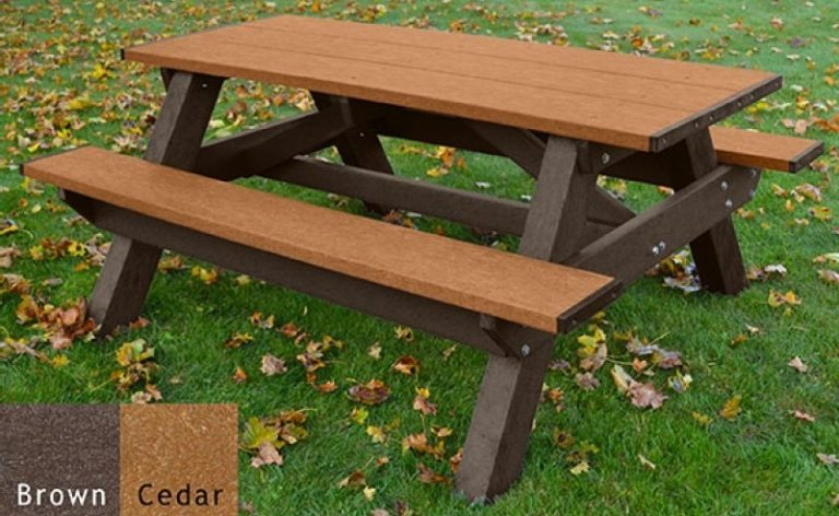 standard recycled plastic picnic table 10