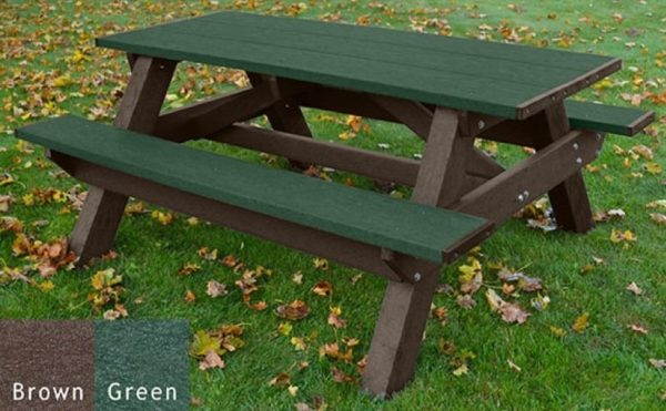 standard recycled plastic picnic table 12