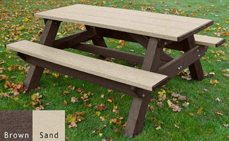standard recycled plastic picnic table 13