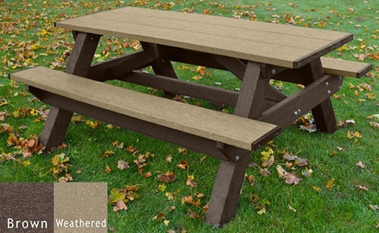 standard recycled plastic picnic table 14