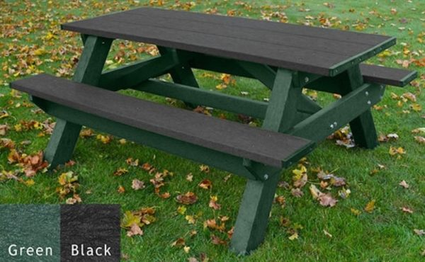 standard recycled plastic picnic table 16