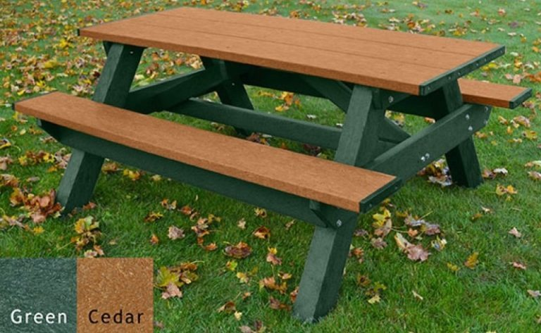 standard recycled plastic picnic table 18