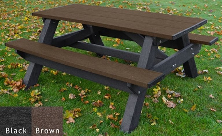 standard recycled plastic picnic table 2