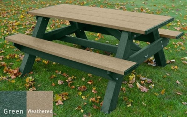 standard recycled plastic picnic table 22