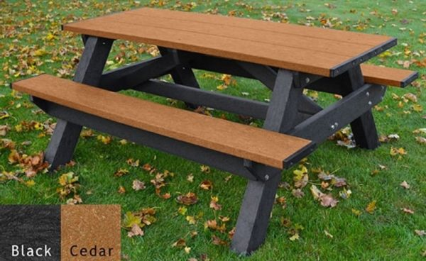 standard recycled plastic picnic table 3
