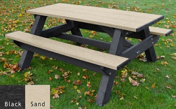 standard recycled plastic picnic table 6