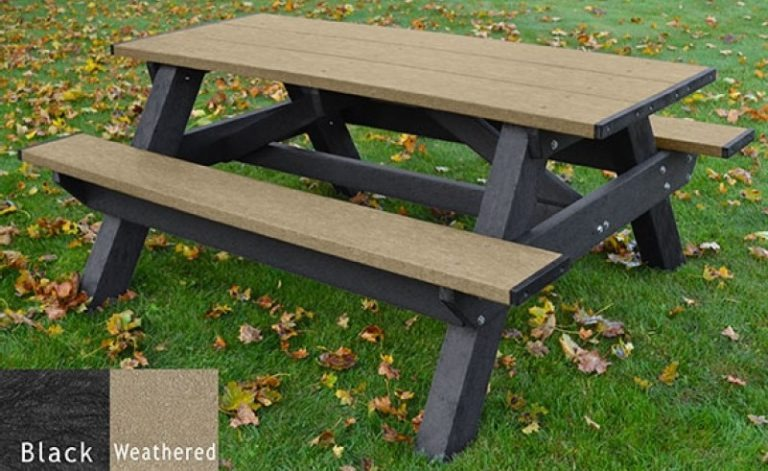 standard recycled plastic picnic table 7