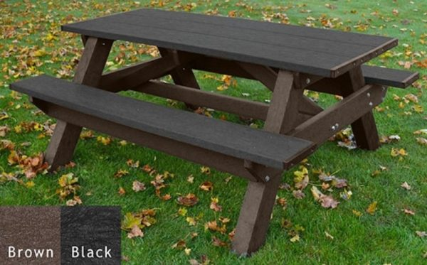 standard recycled plastic picnic table 8