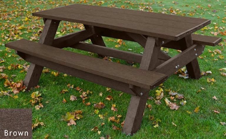 standard recycled plastic picnic table 9