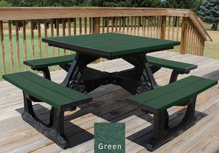 town square recycled plastic picnic table 1