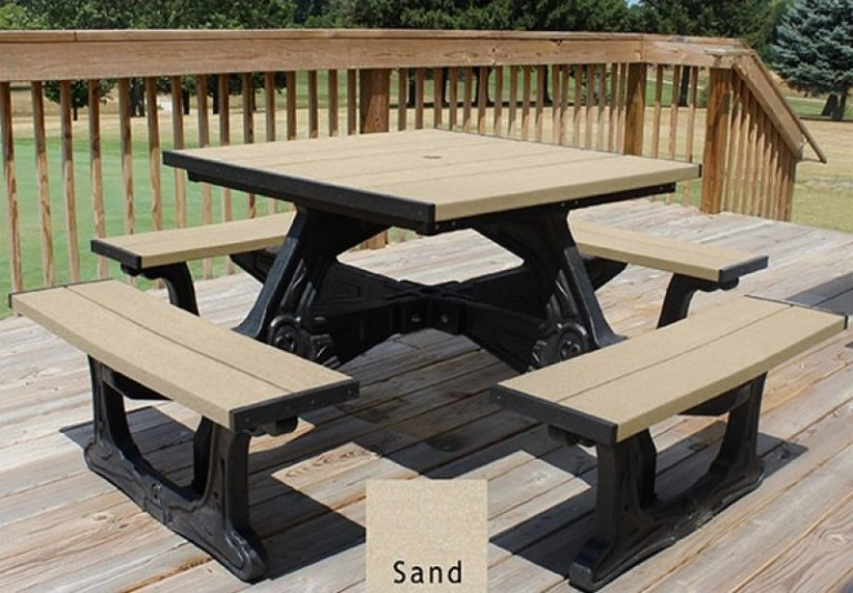 town square recycled plastic picnic table 2