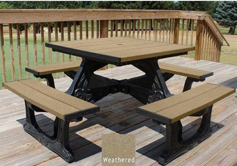 town square recycled plastic picnic table 3