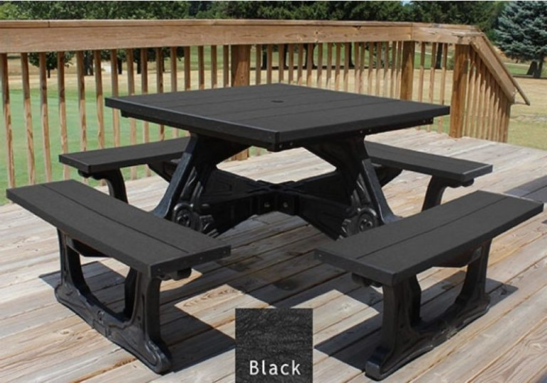 town square recycled plastic picnic table 4