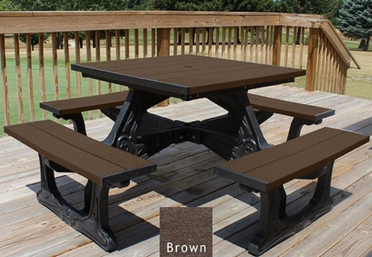 town square recycled plastic picnic table 5