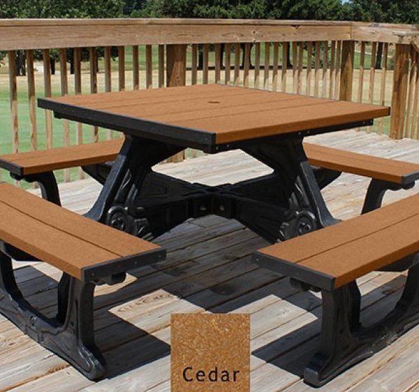Economizer Recycled Plastic Bench Pro Playgrounds The Play And - Picnic table recycled plastic lumber