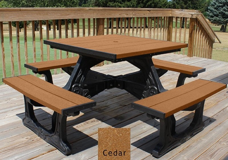 Town Square Recycled Plastic Picnic Table