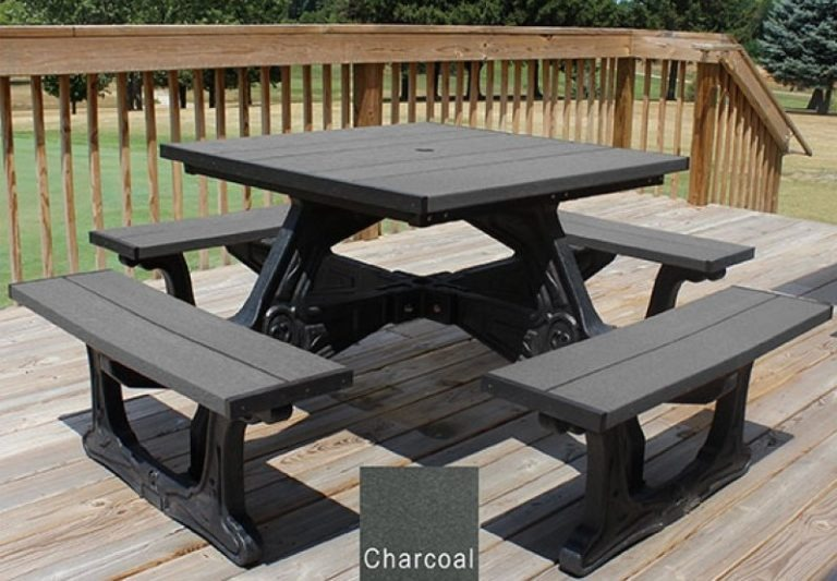 town square recycled plastic picnic table 7