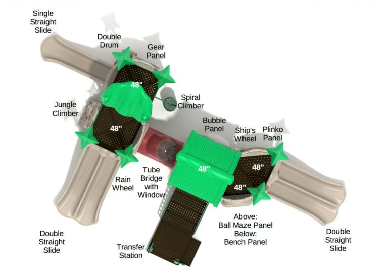 turbo turtle commercial playground system 3