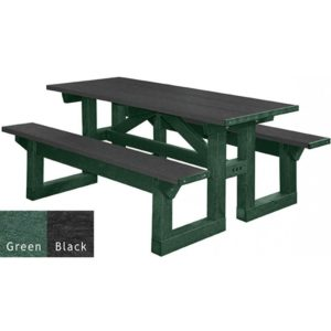 walk through recycled plastic picnic table 15