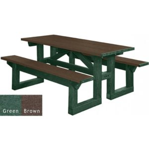 walk through recycled plastic picnic table 16