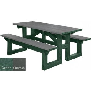 walk through recycled plastic picnic table 18