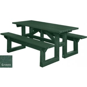 walk through recycled plastic picnic table 19