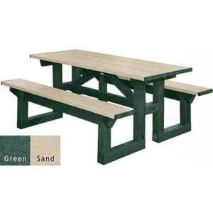 walk through recycled plastic picnic table 20
