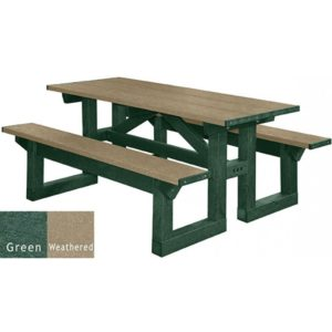walk through recycled plastic picnic table 21