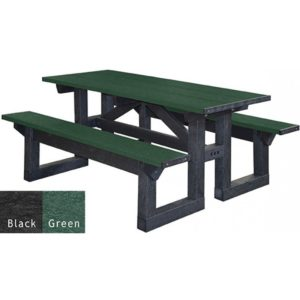 walk through recycled plastic picnic table 5