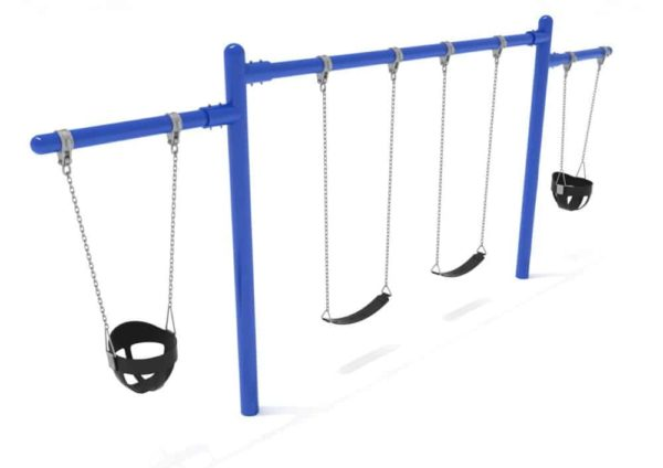 2 cantilevers 1 bay commercial swing frame only with hangers 1