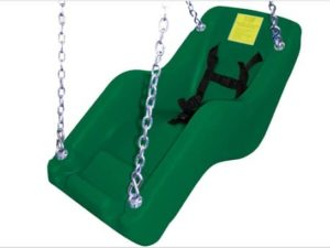 cubby adaptive swing seat green