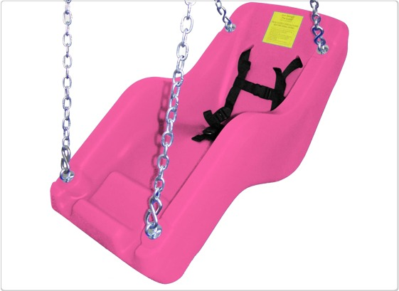 cubby adaptive swing seat pink