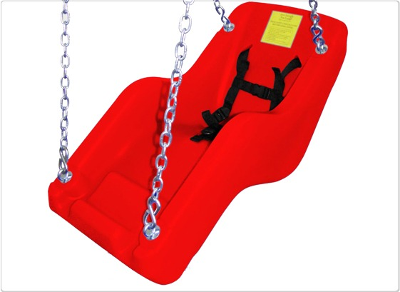 cubby adaptive swing seat red