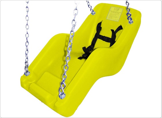 cubby adaptive swing seat yellow
