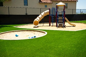 artificial turf playground surfacing
