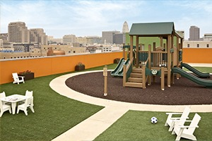 bonded rubber mulch playground surfacing