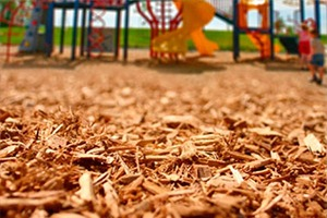 engineered wood fiber mulch playground surfacing
