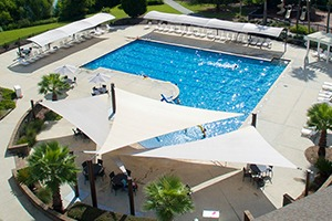 pool and recreation shade structure