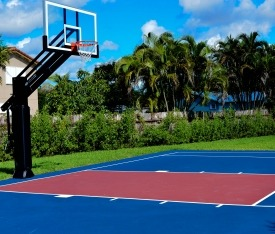 angled side view of pro dunk diamond basketball system in miami 2638 275