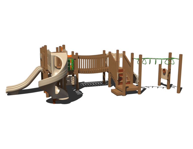 beaver bridge commercial playground system 1