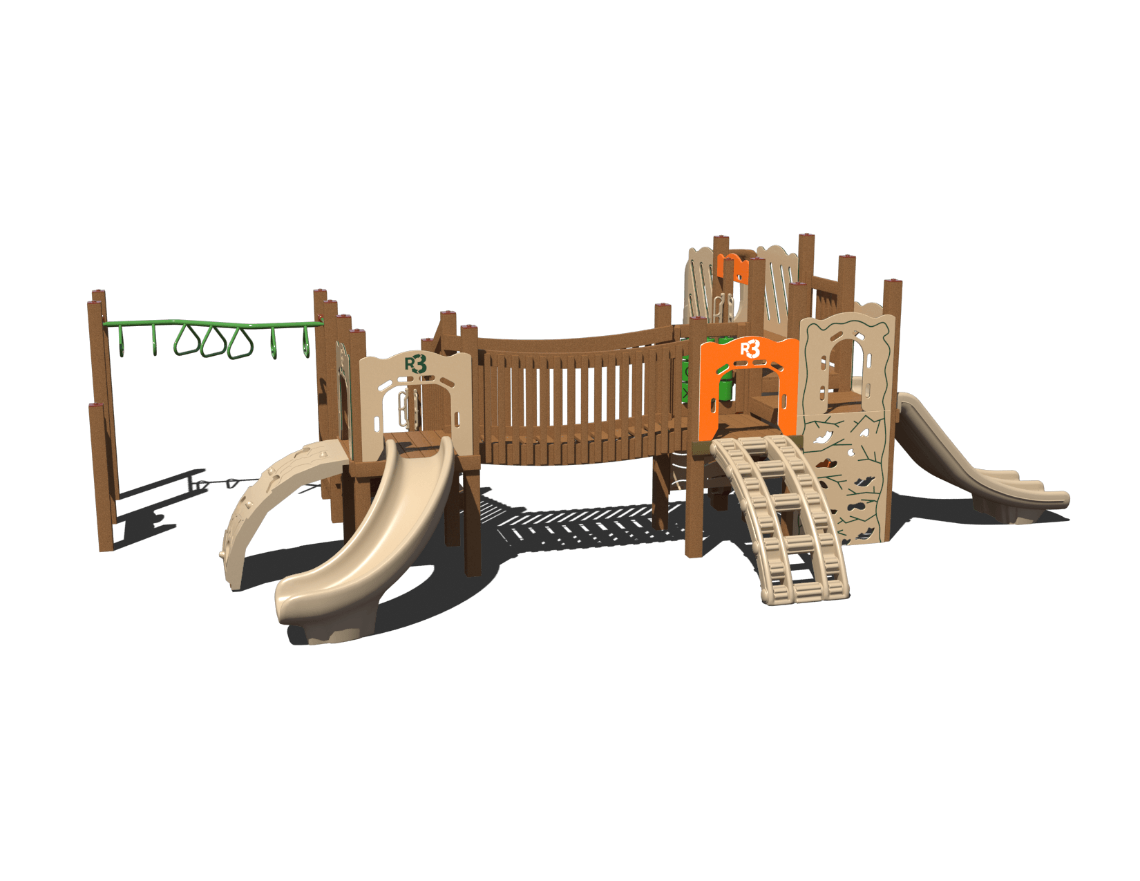 beaver bridge commercial playground system 2