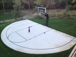 pro dunk gold system over blacktop half court 2822 889