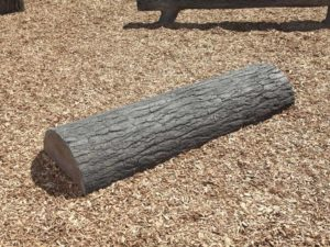 6ft nature themed log playground balance beam 1