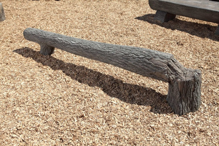 8ft fallen tree nature themed playground balance beam 1
