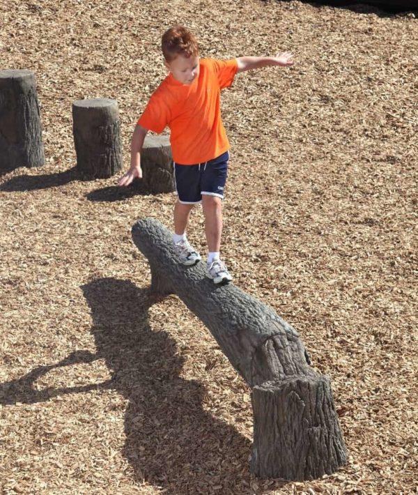 8ft fallen tree nature themed playground balance beam 2