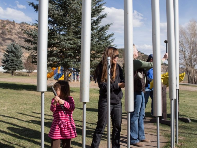 contrabass chimes outdoor playground musical instruments 5