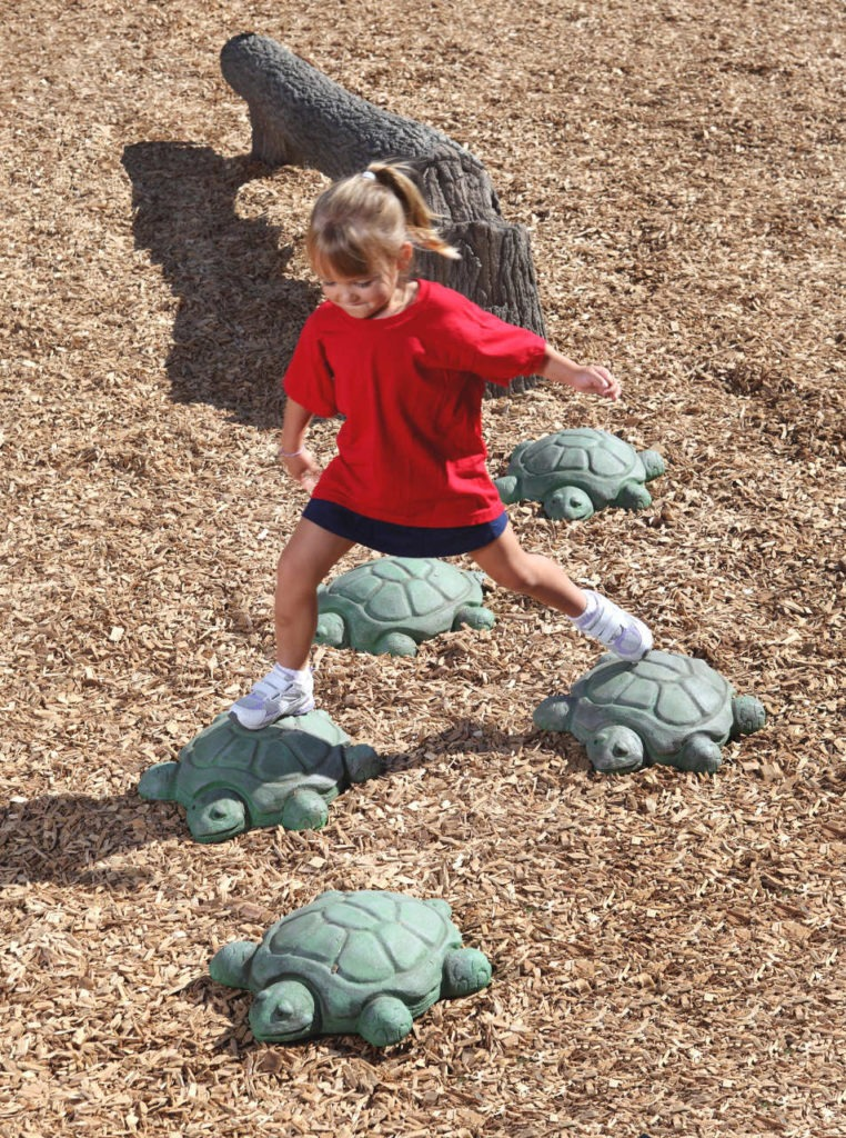 nature themed playgroudn turtule stepping boulders 3