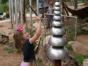 pagoda bells outdoor playground musical instruments 1