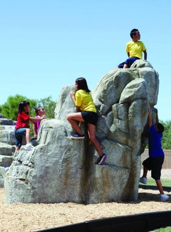 playground climbing boulder granite large 2