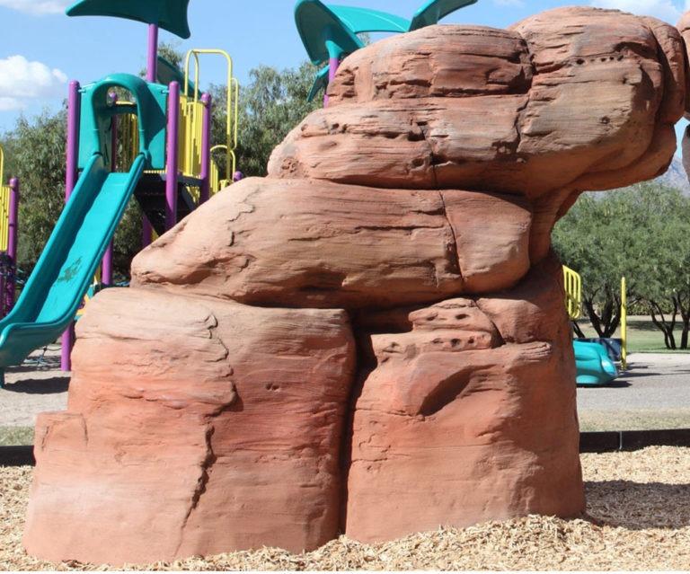 playground climbing boulder sandstone medium